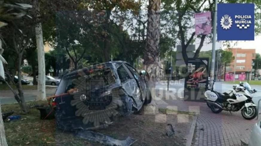 Dos conductores accidentados en la ciudad de Murcia dan positivo en el control de alcoholemia