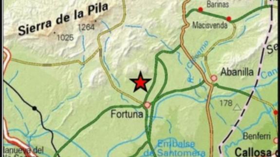 Terremoto de 3,4 de magnitud al Noroeste de Fortuna