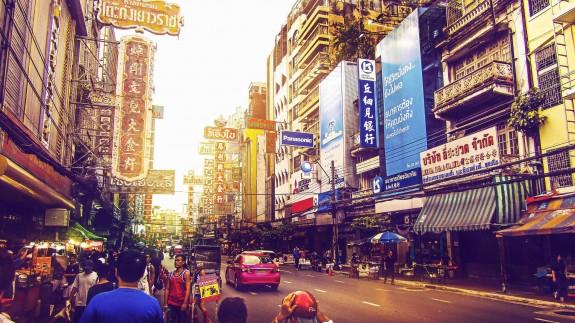 Una de las calles de Bangkok, la capital de Tailandia