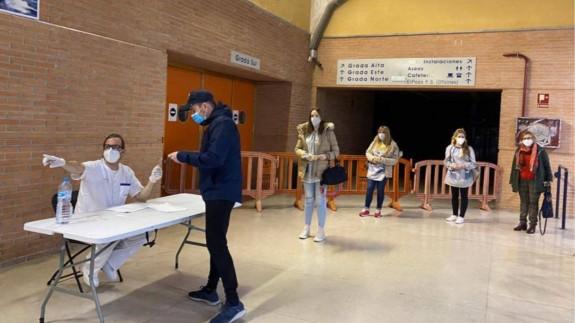 Vacunación en el palacio de los Deportes de Murcia (archivo). AYTO. MURCIA