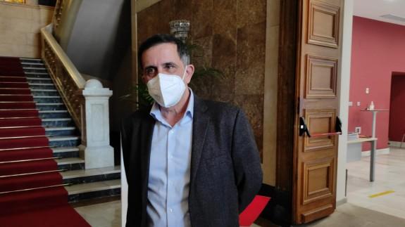 José Antonio Serrano tras la presentación de la moción de censura en Murcia