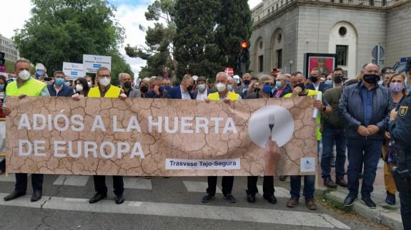 Concentración frente al ministerio de Transición Ecológica en Madrid.