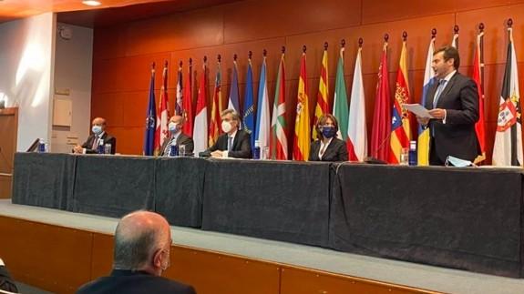 El presidente del TS y CGPJ Carlos Lesmes en el acto de entrega de despachos en Barcelona