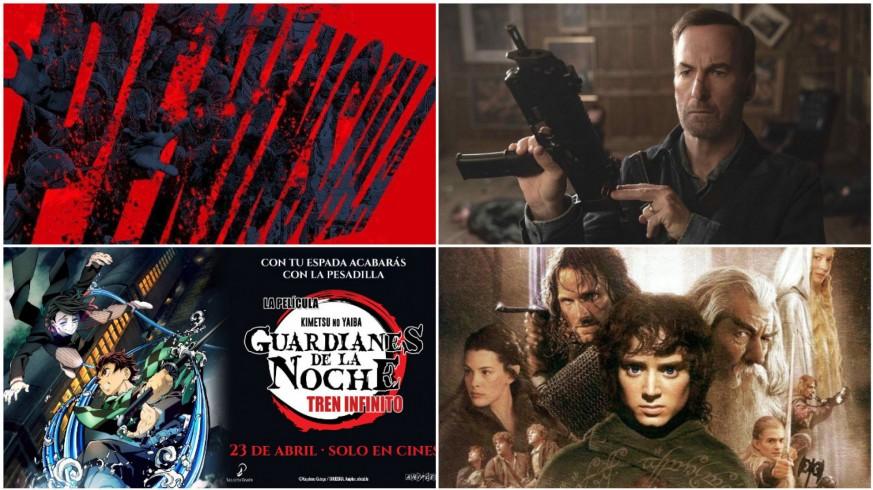 Carteles y fotogramas de cuatro películas