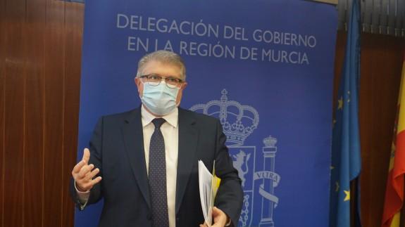 El Delegado del Gobierno en la Región de Murcia, José Vélez