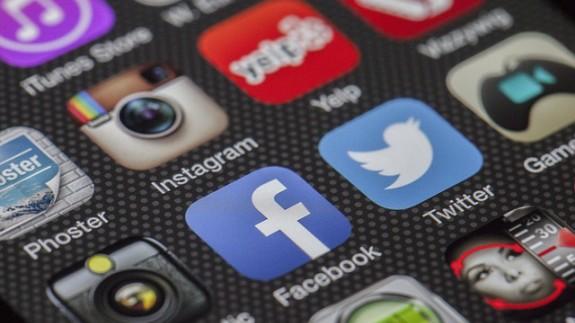 Redes sociales en un terminal móvil