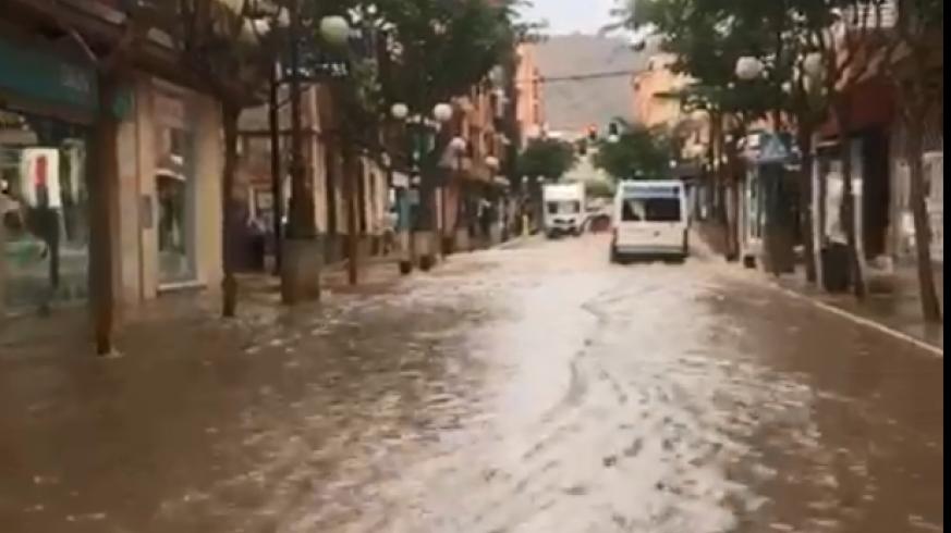 Lluvia caída este viernes en Mazarrón