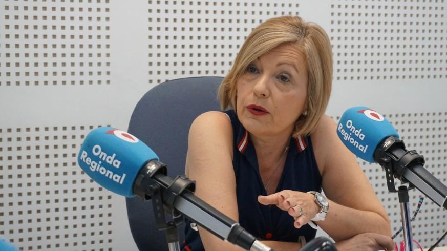 Carmen Solano en los estudios de ORM