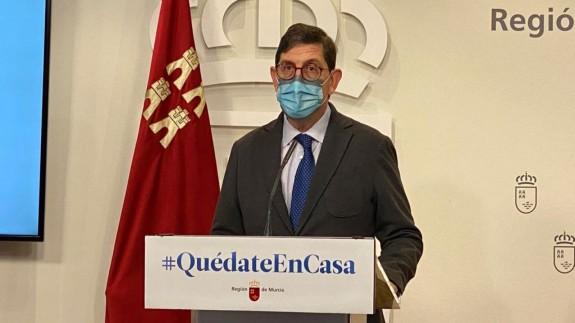 Manuel Villegas en rueda de prensa tras la reunión del Consejo de Gobierno. CARM