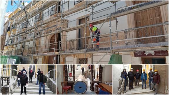 Trabajos de restauración del Casino de Lorca