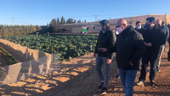 Visita del consejero Luengo a El Mirador en San Javier