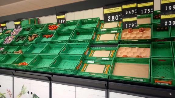 Supermercado de Cartagena este martes. ORM