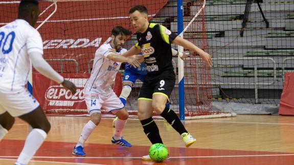 Rafa Santos, en un lance del partido frente a O Parrulo
