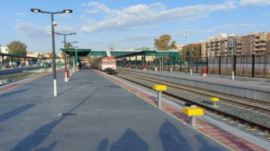 Andenes provisionales de la estación de trenes de El Carmen