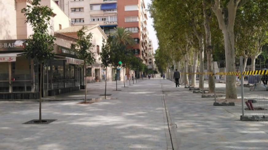 Paseo Alfonso X El Sabio en Murcia. ORM.