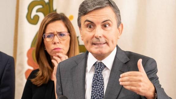 Pedro Saura, en rueda de prensa este viernes