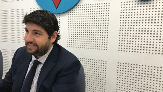 López Miras durante la entrevista en ORM