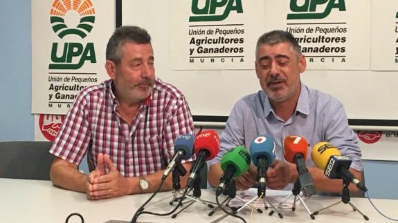 Marcos Marín y Antonio Moreno, dirigentes de UPA en Murcia