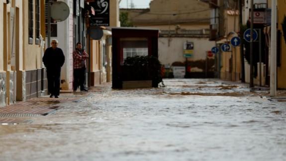Lluvias en San Pedro el pasado enero