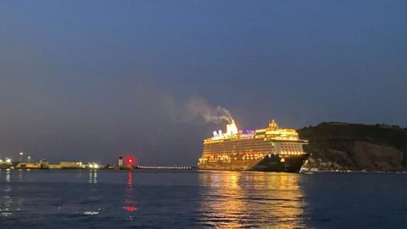 Escala de un crucero, el pasado fin de semana, en Cartagena. PUERTO DE CARTAGENA