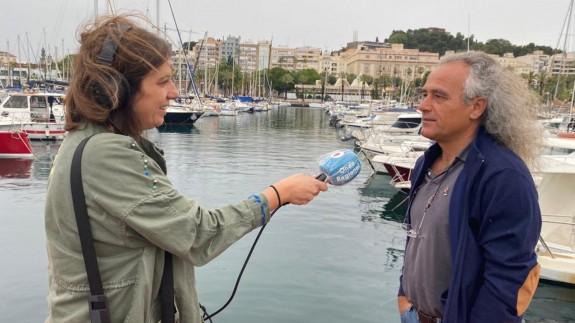 Pedro García entrevistado por nuestra compañera Sonia Illán en Cartagena