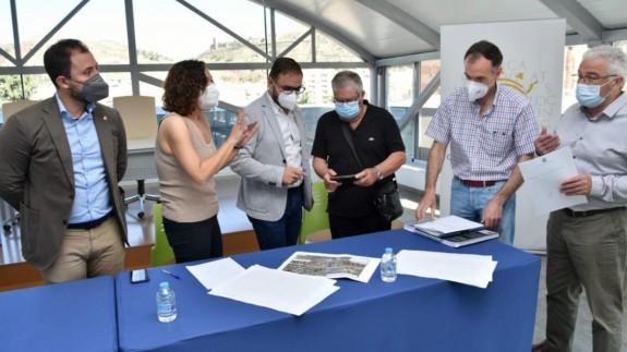 El alcalde de Lorca ha explicado los detalles a la Mesa del Ferrocarril. AYTO LORCA