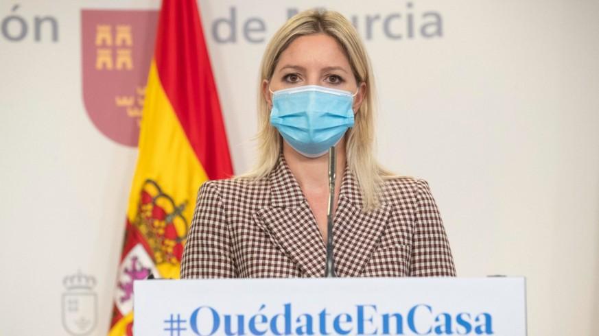 Ana Martínez Vidal en la rueda de prensa del Consejo de Gobierno