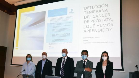 Acto organizado en Murcia por la Asociación Nacional de Cáncer de Próstata (ANCAP) con motivo del día mundial contra esta enfermedad. PORTAVOZ