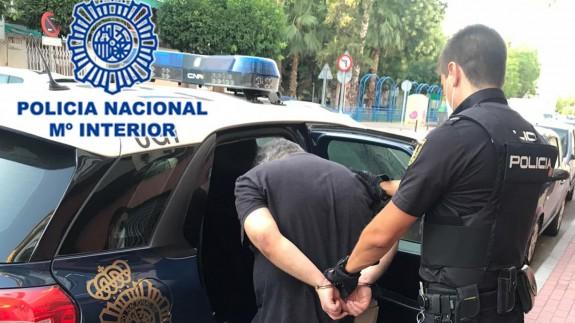 Momento de la detención del individuo