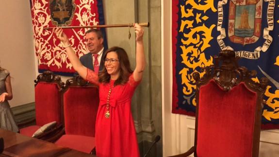 Castejón, tras ser investida alcaldesa