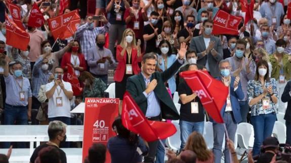 """Sánchez clausura el """"congreso de la fraternidad"""". Foto: PSOE"""
