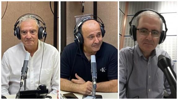 Enrique Nieto, Javier Adán y Manolo Segura