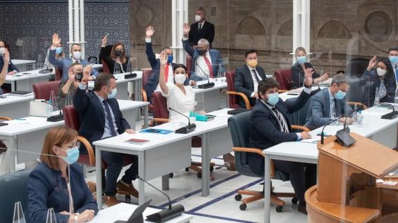 Imagen de archivoPleno este miércoles en el parlamento
