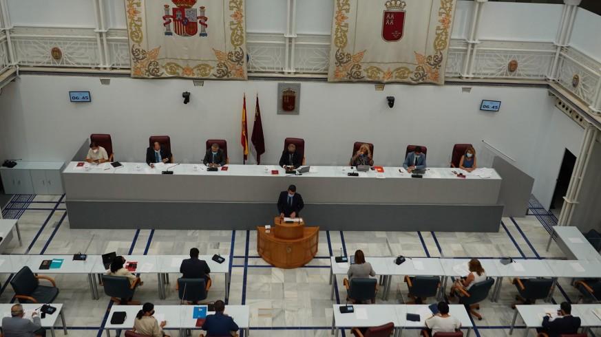 Pleno en la Asamblea Regional este lunes