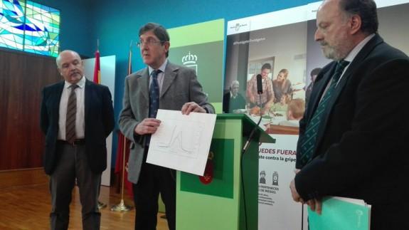 Manuel Villegas ofrecía el pasado viernes los datos sobre la epidemia de gripe
