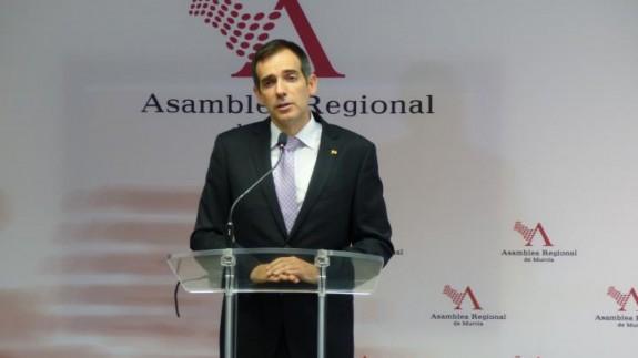 Juan José Liarte, ayer en la Asamblea