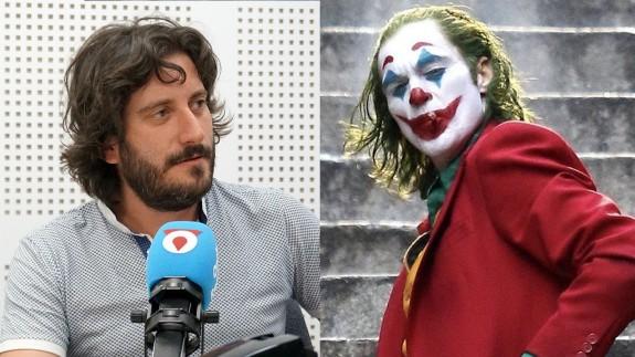 Víctor Egío y Joaquin Phoenix caracterizado como Joker