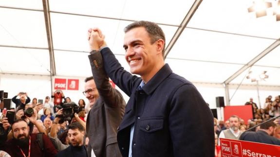 Pedro Sánchez en Murcia junto a Diego Conesa