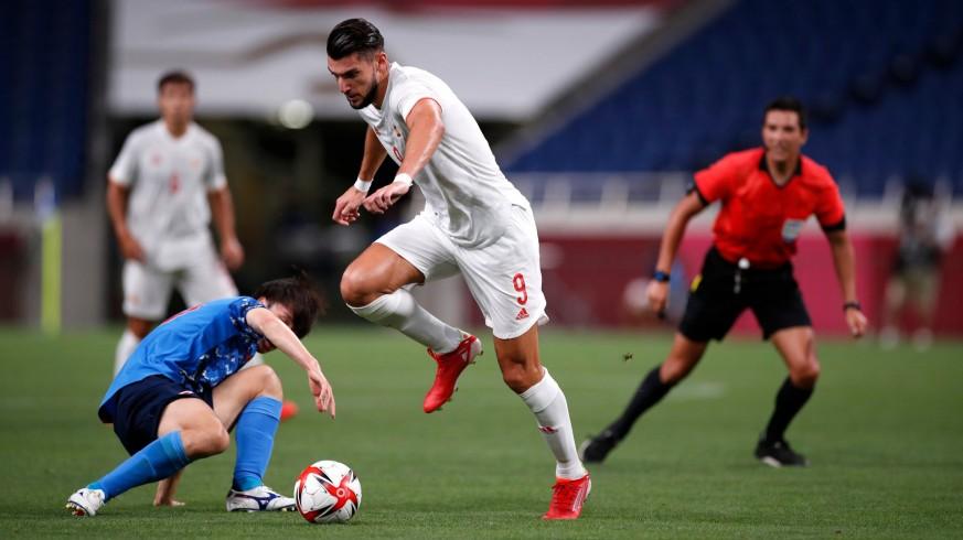 El murciano Rafa Mir gozó de claras ocasiones de gol. Foto: RFEF