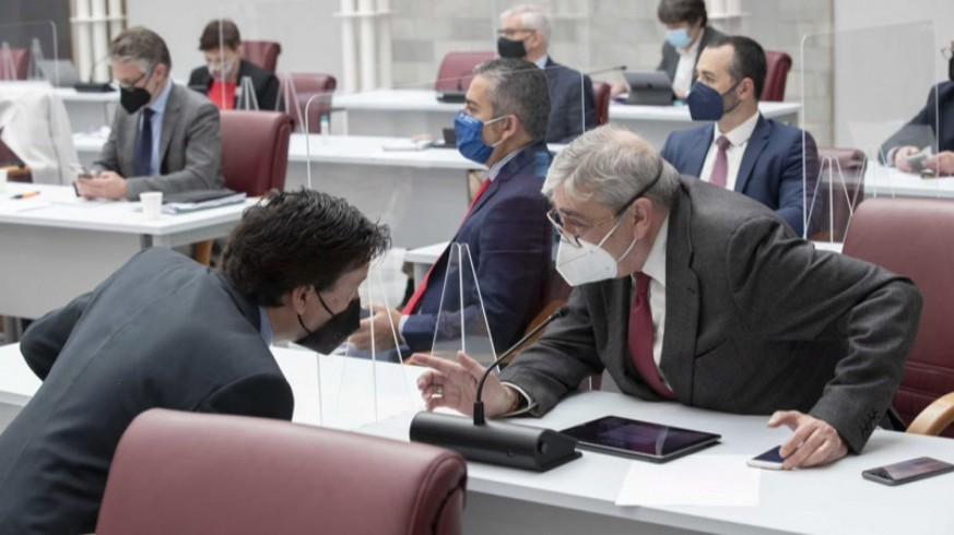 Diputados de Ciudadanos en el pleno