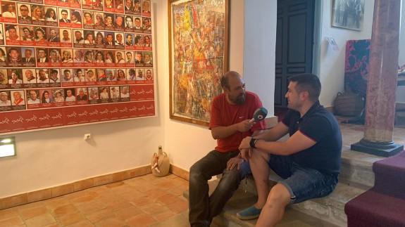 Enrique Soler y Juan López en el Museo de los Caballos del Vino de Caravaca