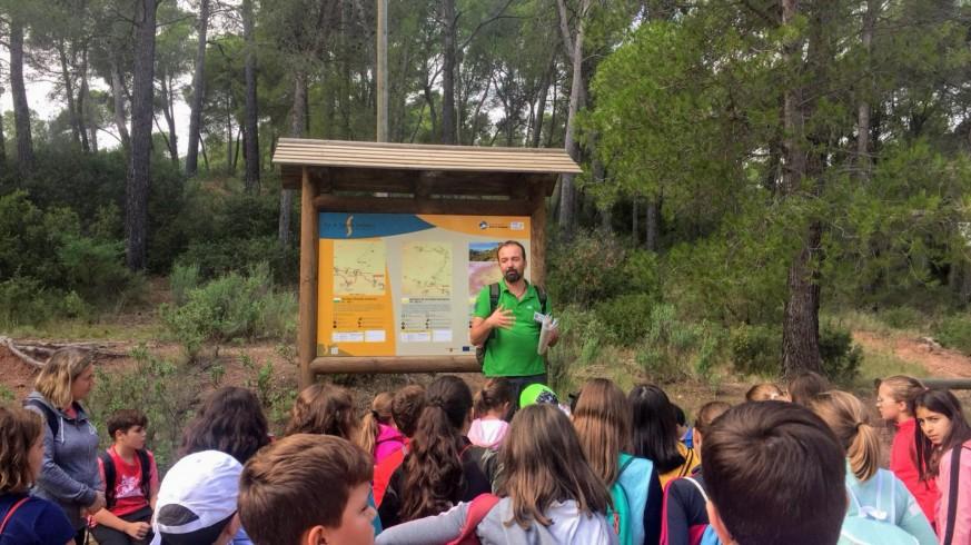 Escolares visitando Sierra Espuña