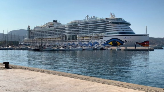 Crucero Aida Perla en el puerto de Cartagena. ORM