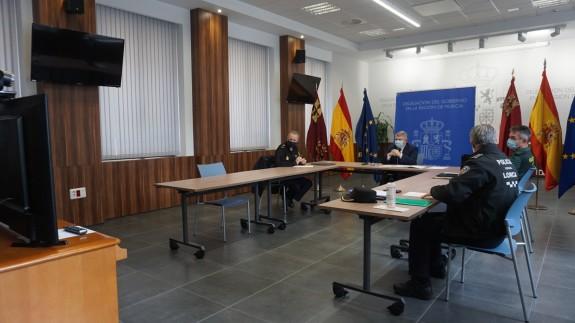 Reunión del CECOR en la Delegación del Gobierno.