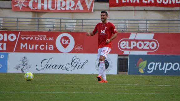 Antonio López durante el partido ante el San Fernando. Foto: Real Murcia