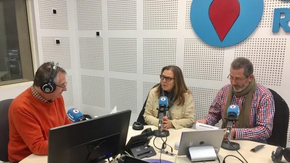 Miguel Massotti, Teresa Allepuz y Antonio Moreno en Onda Regional