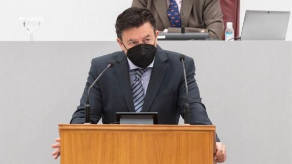 Juan José Molina durante una intervención en la Asamblea Regional. CIUDADANOS