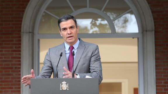 Sánchez durante su intervención