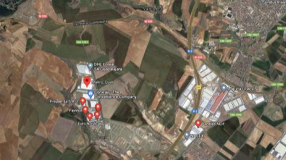 Polígono Industrial de Quer (Guadalajara). GOOGLE MAPS