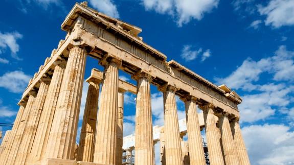 Partenón, en la Acrópolis de Atenas, Grecia